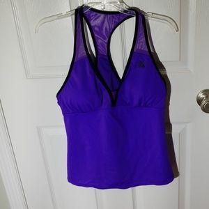Purple tankini top